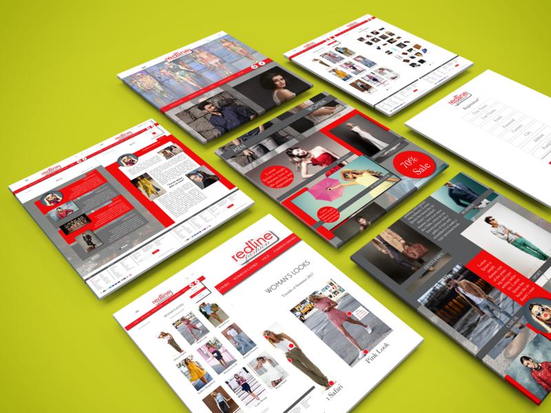 Redline fashion website uiuxdesign webdesign @design