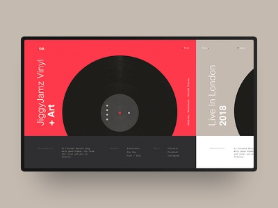 .V/A Vinyl website modern black grey red fashion ux ui website vinyl helvetica minimal swiss