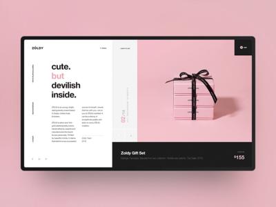 ZOLDY Webshop product webshop design modern black pink ux ui jewelery helvetica minimal swiss