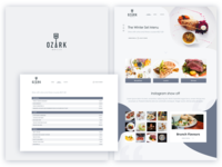 Ozark Grill Menu and Website Layout
