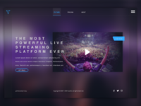 Ui web design. Streaming