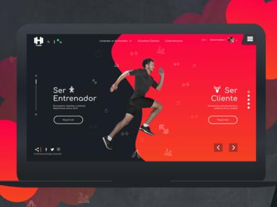 web design UI - hACTIO