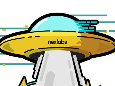 nexlabs On The Beach myanmar ufo wave boat good vibe beach illustrator adobe illustration nexlabs