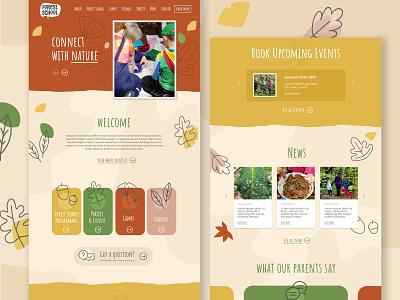 Forest School web photoshop vector logo wordpress web design design