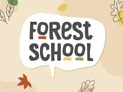 Forest School Logo wordpress photoshop illustrator web typography vector logo design web design