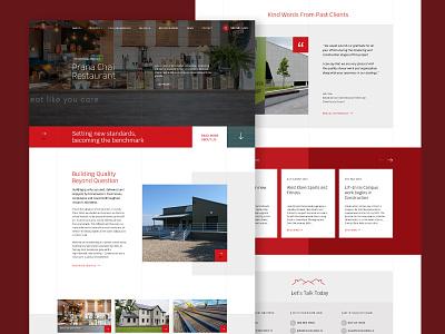 Construction site wordpress web design design wip