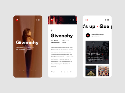 Black Lemon - Mobile Website responsive mobile video layout event luxury art direction ux website interaction ui webdesign