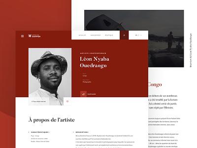 Dapper - African art museum - 01 ocher artist african art website