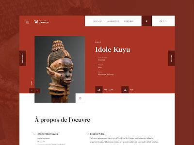 Dapper - African art museum - 02 about ochre navigation webdesign museum art african dapper