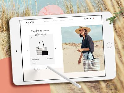 Maradji - Website e-shop 👜 instashop slideshow woocommerce smooth parallax feminine fashion e-commerce e-shop interaction website webdesign