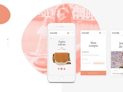 Maradji - Website e-shop 👜 woocommerce website webdesign interaction mobile responsive fashion e-shop e-commerce