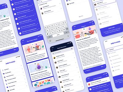 Method Employee App branding app ux ui illustration design