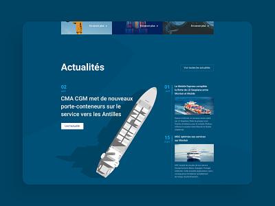 Portal for an international port portal harbor agency ui design ux design