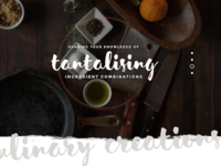 Feature Typography app drink food brush script slideshow text typography feature design web ui