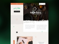 Holding Page icon parallax brush script drink food app page holding design ui web