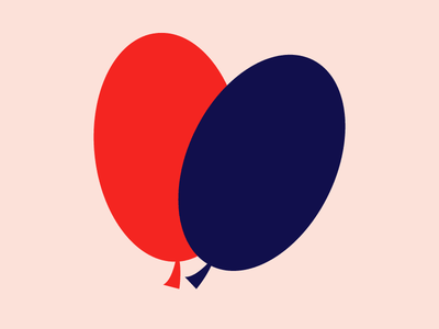 The two of us balloons digital color abstract illustration