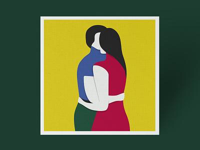 Two color digital illustration