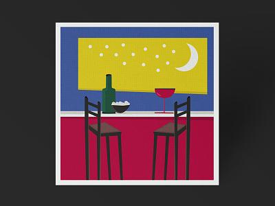 Night color digital illustration
