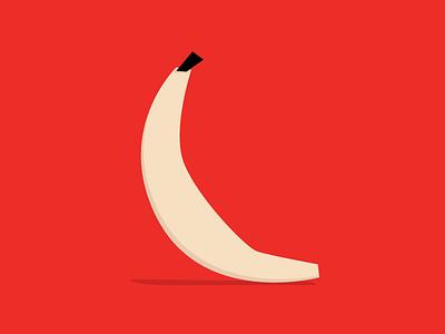 Monday night banana digital color illustration
