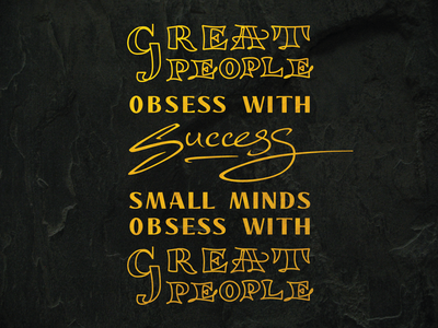 Mindfulness about Success small-mindedness greatness quote daily success mindful mindfulness calligraphy font display