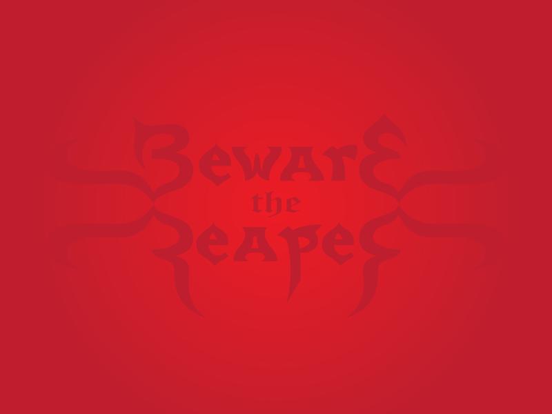 Reaper album music variation beware reaper lettering display calligraphy