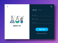 Daily UI Challenge — Sign Up Page
