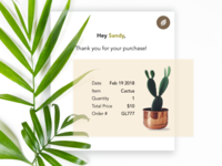 Daily UI Challenge #017: Email Receipt