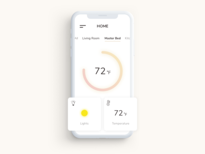 Daily UI Challenge #021: Home Monitoring Dashboard