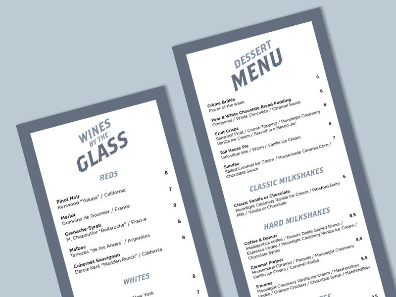 Fraiche Bistro menu
