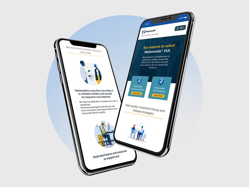 Nationwide Insurance landing page ui website design webdesign deign website