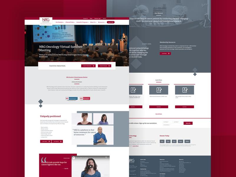 NRG Oncology uidesign website builder webdesign website