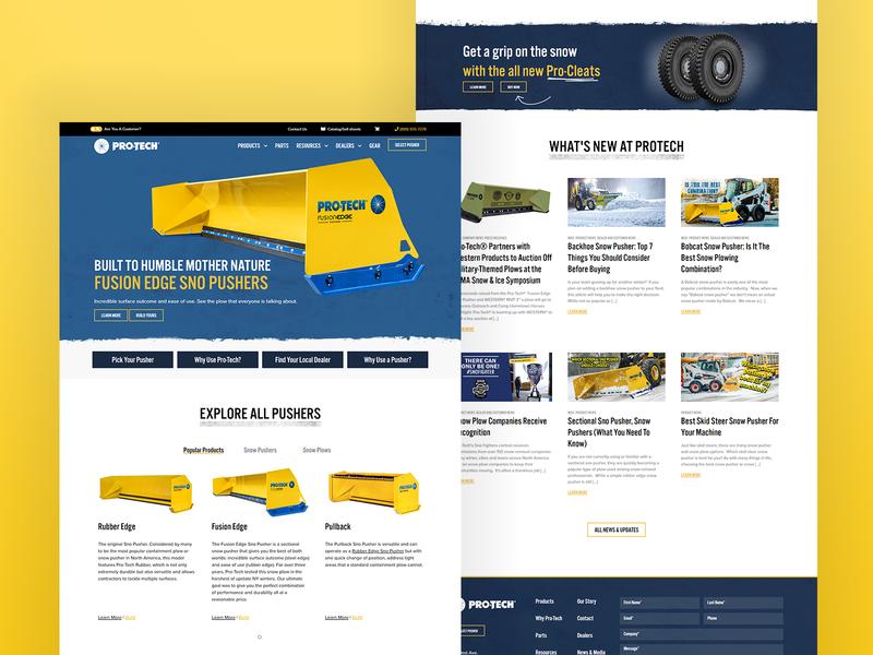 Pro-Tech Manufacturing design ui webdesign website