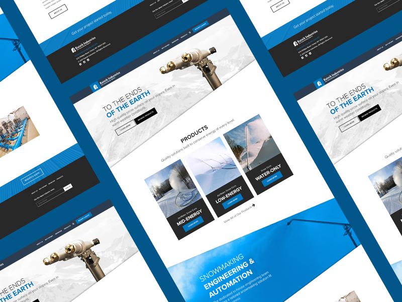Ratnik Industries ui webdesign design website