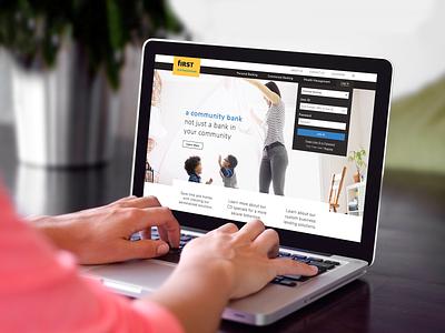 First Financial Bank website mock-up design