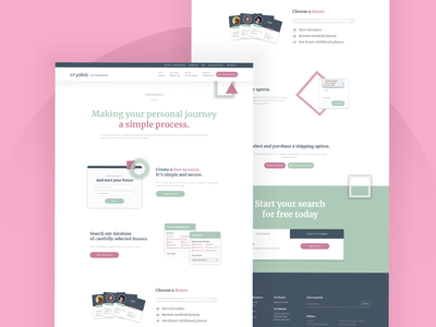 Cryobio web design web
