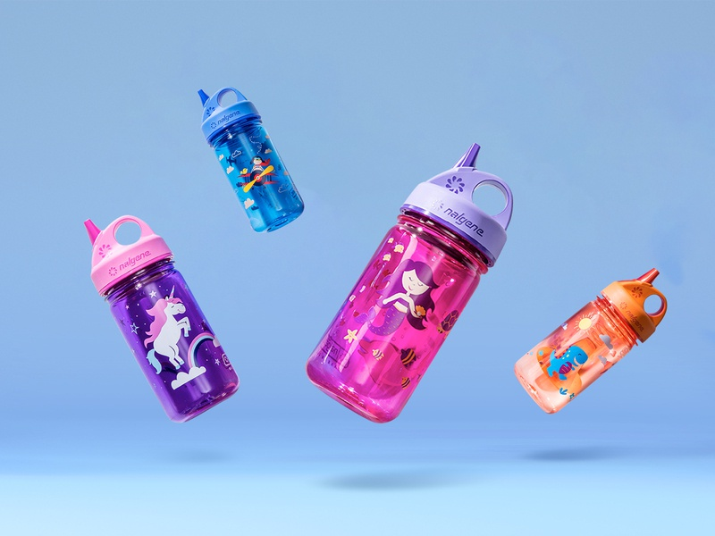 Nalgene Kid bottle illustration nalgene illustration kids