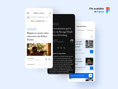 Magazine Mobile UI interface trending mobile design mobile app uiux figma magazine mobileui mobile design ux uidesign ui minimal