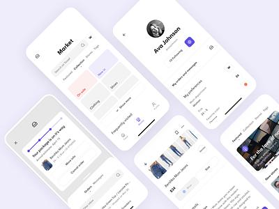 Tassel - Fashion Marketplace ecommerce design ecommerce app app mobile ui mobile interface figma ux uidesign ui design minimal