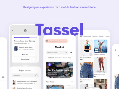 Tassel - UX Case Study ux case study app mobile ui mobile interface figma ux uidesign ui minimal design