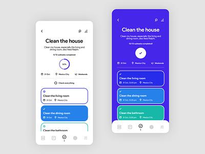 Minimal Tasks App uidesign minimal flat app ux ui design