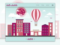 Hello Dribble - Landing Page