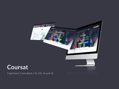 Coursat - كورسات branding website ux