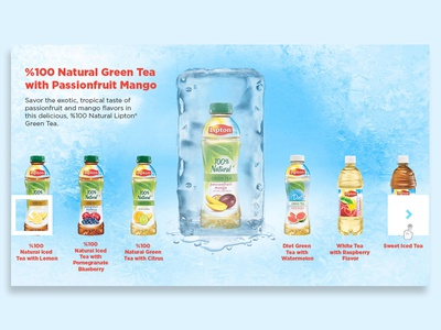 Lipton products LG touch display  lg touch lipton lg display user interface graphic design user experience