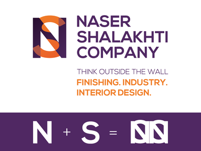 Naser Shalakhti Company interior design abstract logo branding