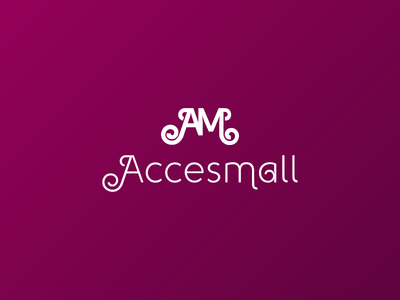 Acessmall ecommerce accessories abstract logo branding