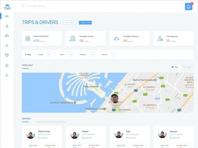 TransportationManagementSystem web application ui ux