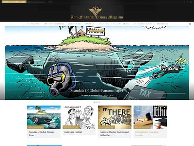 AfcMagazine ui ux wordpress website