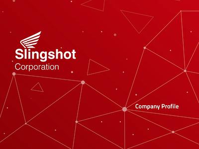 Slingshot logo illustration abstract branding design
