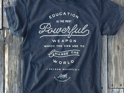 Education Print apparel typography custom handmade hand drawn good non-profit education script font