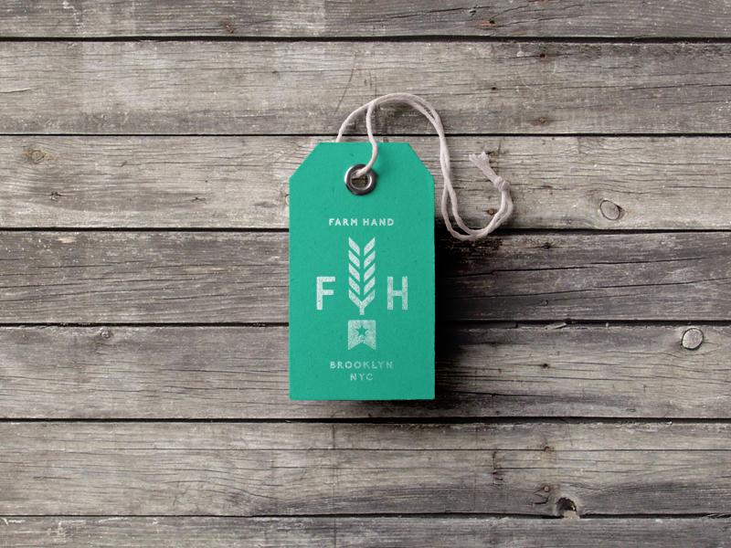 Farm Hand texture woodgrain icon brand identity design badge emblem layout logo typography branding